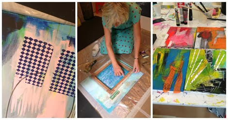 Workshop kunst abstrak Bettina Holst