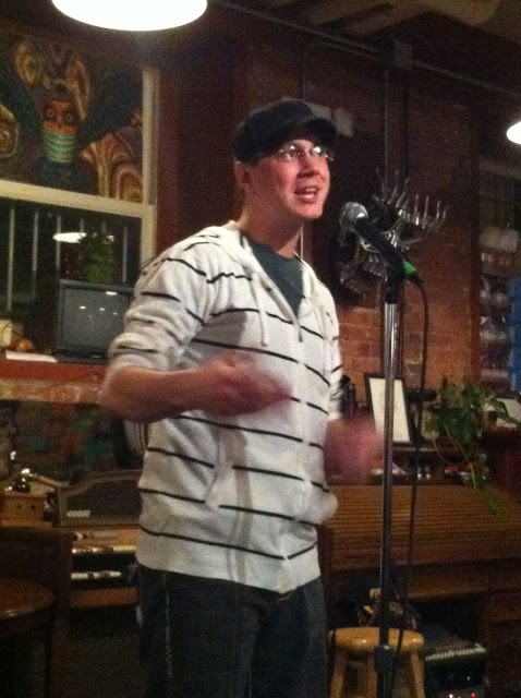 "Kevin Peterson at the Hudson River Coffee House for Jared Paul's ""Occupy Poetry Month"" Tour"