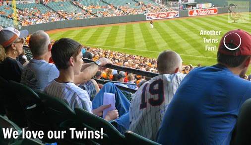 Boys at Twins Game