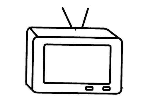 DIBUJOS DE TELEVISORES PARA COLOREAR | Dibujos para colorear