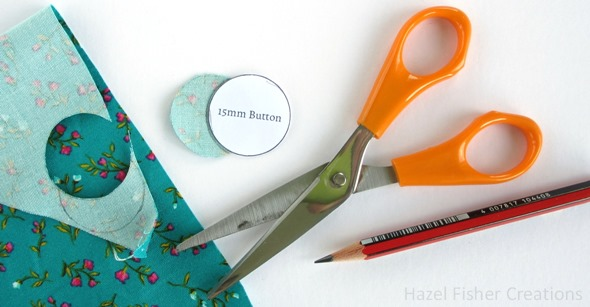 Fabric Cover Button diy tutorial 3