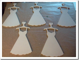 Wood dress ornaments - primed