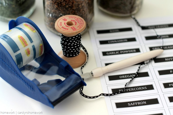 Sauce Jar Upcycle to Spice Jars with Printable Labels - homework (9)