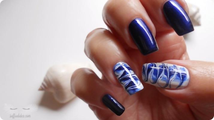 nail art - nailart - marble - soffiodidea - soffio di dea - onde -4a