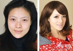 chinese girls makeup before and after  (18)