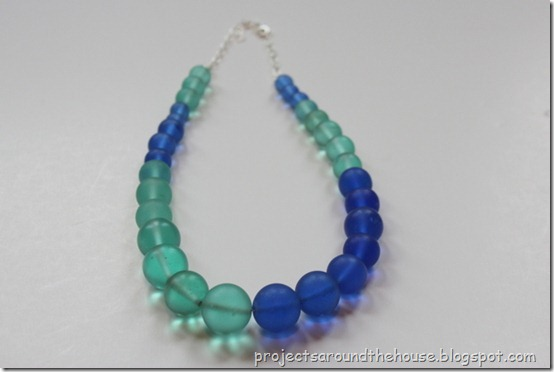 DIY color block necklace easy