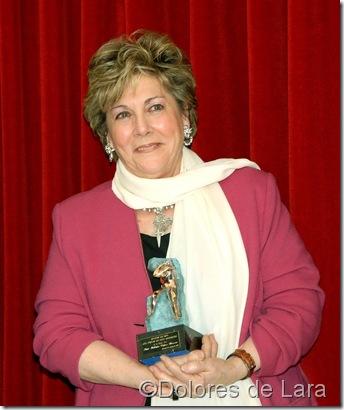 Paloma con su Premio 'Master de Oro' del Forum de Alta Dirección