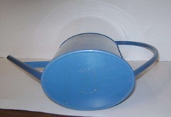 Ingrid blue plastic watering can bottom