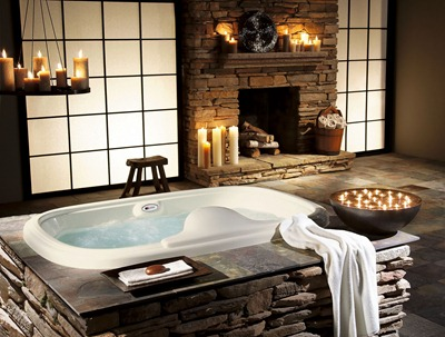 Relaxing-Bath-with-Decorative-Candles