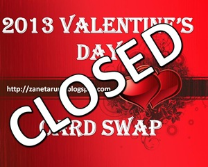 2013 Valentine's Card Swap Closed