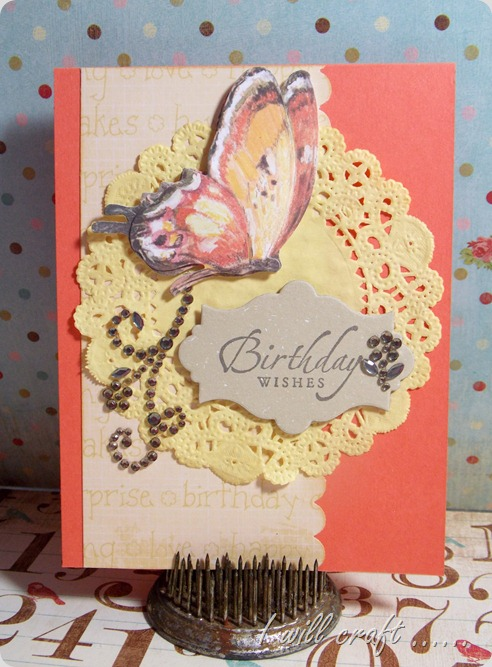 I will craft... Butterfly Birthday Card (2)