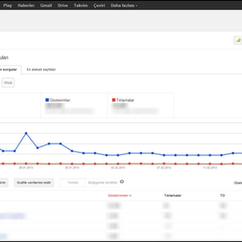 Google Webmaster Tools Arama Sorguları