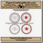 peppermint circles papered 200