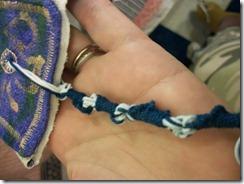 one strand done
