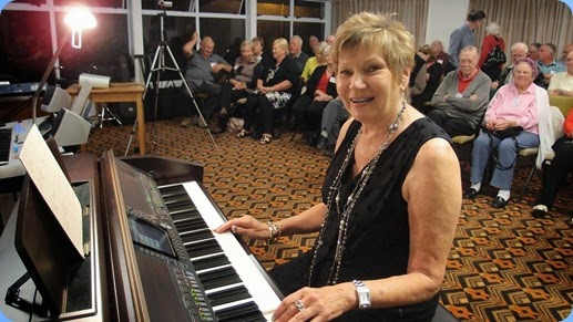 Our guest artist, Carole Littlejohn playing our Clavinova CVP-509. Photo courtesy of Dennis Lyons