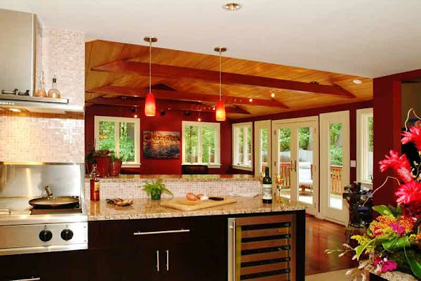 Kitchen color schemes casual cottage for Modern kitchen color ideas