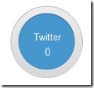 Clique no círculo Twitter
