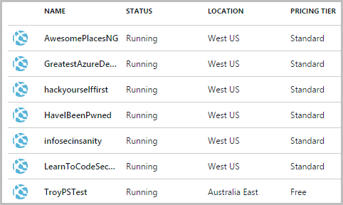 Automating web hosting creation in Azure with PowerShell
