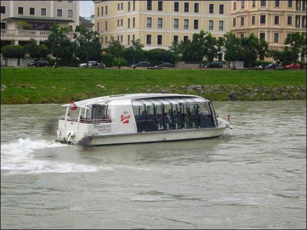 جولة في القارب في سالزبورغ