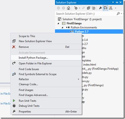 Install-Python-Package-Visual-Studio