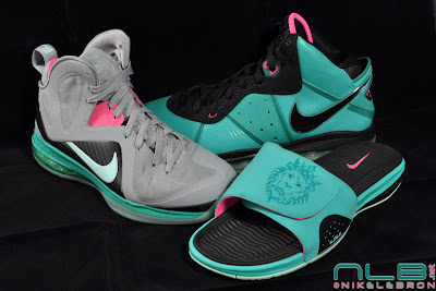 lebrons air slide south beach 07 web The Showcase: LeBron South Beach Family (Shoes, Slides, Socks)