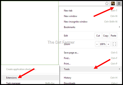 Chrome Menu Navigation