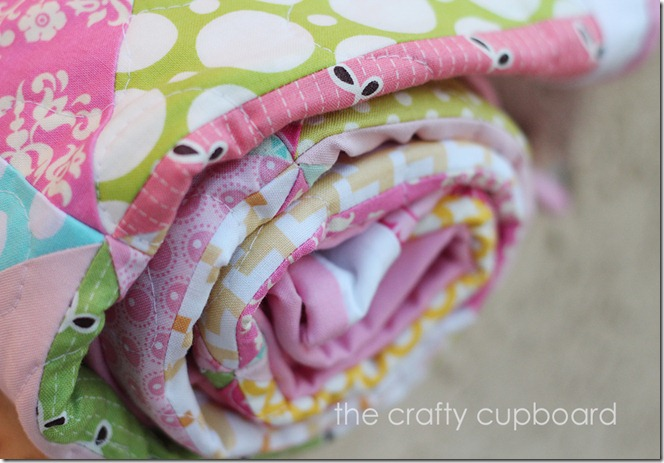 Pink Pinwheels Pink Binding by the Crafty Cupboars