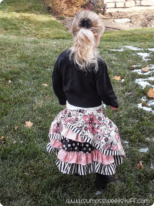 Little Girl Fashion - Bustle Skirt by www.SumosSweetStuff.com