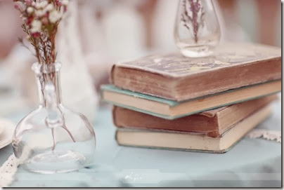 vintage-wedding-books-on-table