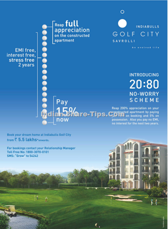 Indiabulls Golf City - 20 - 80 No-worry Scheme