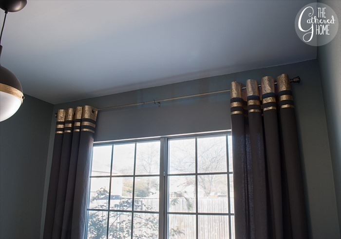 DIY Gold Leaf Embellished Curtains | The Gathered Home