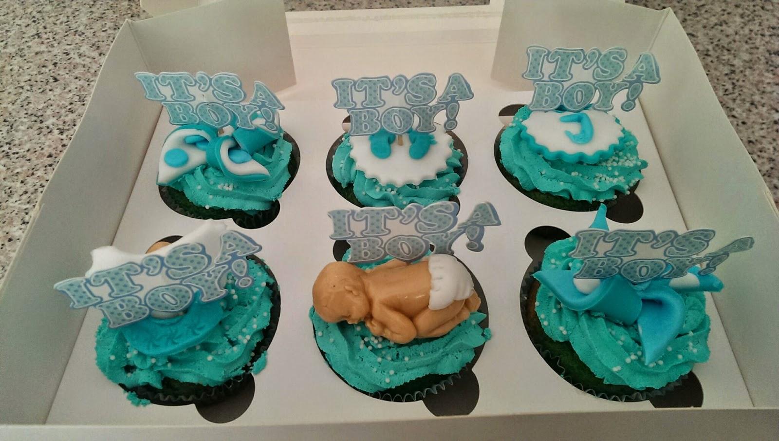 ... tartas fondant(Murcia): Tarta y cupcakes para el baby shower de Juan