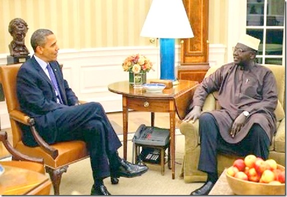 Barack & Malik Obama in Oval Office