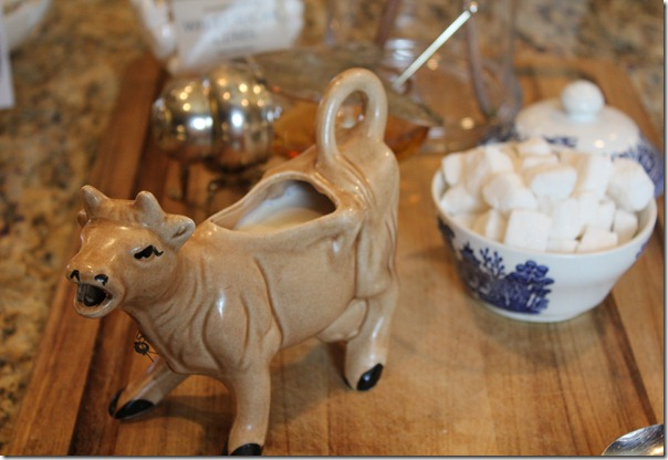 tea party cow creamer