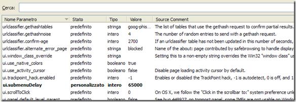 about:config Firefox con Config Descriptions