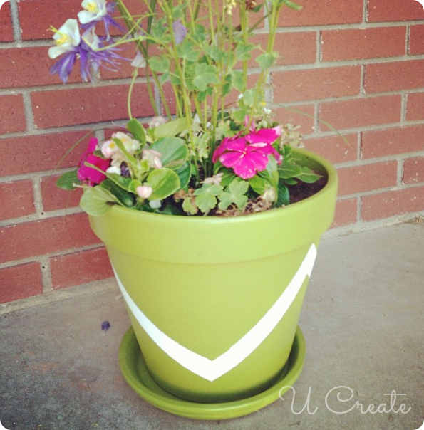 DIY Painted Pots - www.u-createcrafts.com