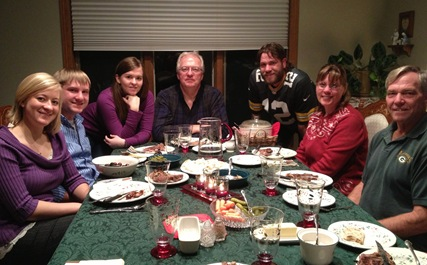 Breutzmann and Nelson Family in Moorhead