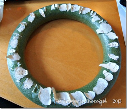Repurposed Styrofoam Wreath