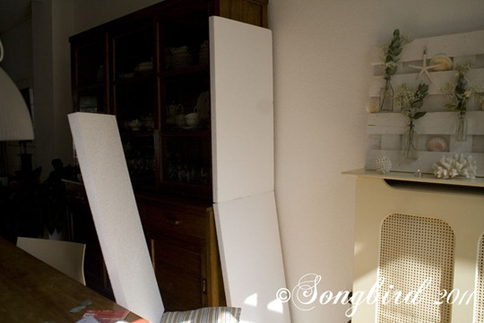 Styrofoam boards in photoshoot