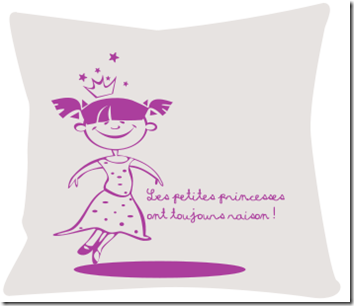coussin design princesse