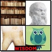 WISDOM- 4 Pics 1 Word Answers 3 Letters