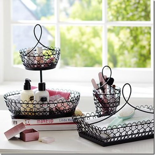 Black Wire Beauty Storage