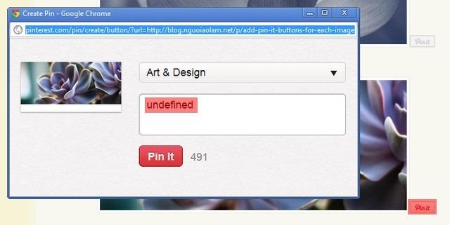 """[Pinterest] Thêm nút """"Pin it"""" cho từng bức ảnh trên blog của bạn"""