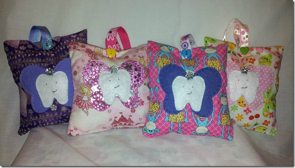 girls tooth fairy pillows