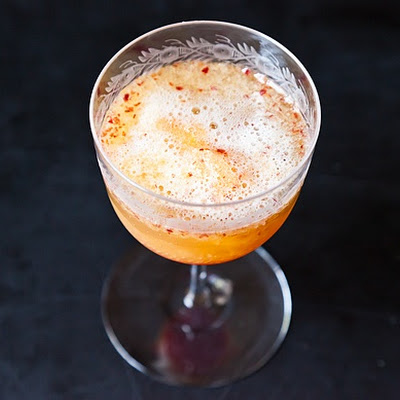 Honeyed Peach Melba Bellinis