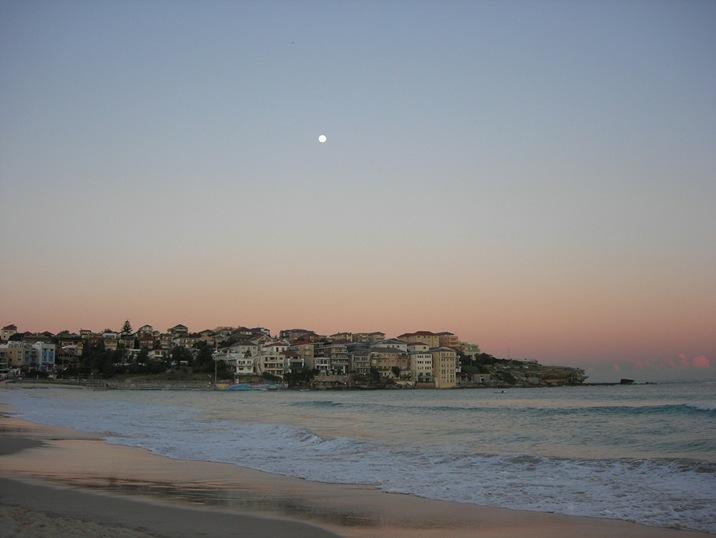 Sunset over Bondi + a full moon!