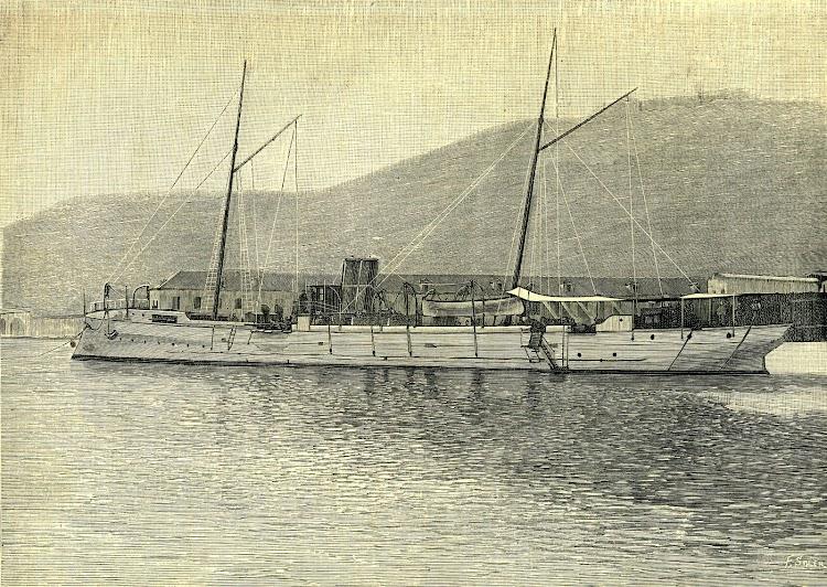 El TEMERARIO. Torpedero de alta mar, tipo Tallerie. Foto y texto de la revista NATURALEZA, CIENCIA E INDUSTRIA. AÑO 1891.jpg