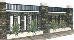 pagar tembok rumah minimalis type 36