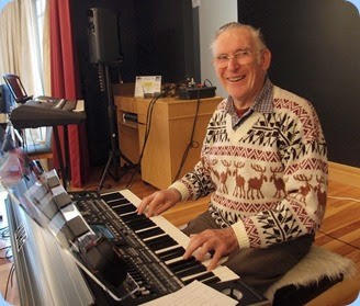 Roy Steen playing the Korg Pa3X both solo and also accompanying Errol Storey. Photo courtesy of Dennis Lyons
