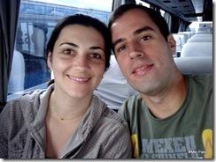 Nosso passeio à Urbino vai começar, estamos acomodados no ônibus que nos conduzirá até a cidade!